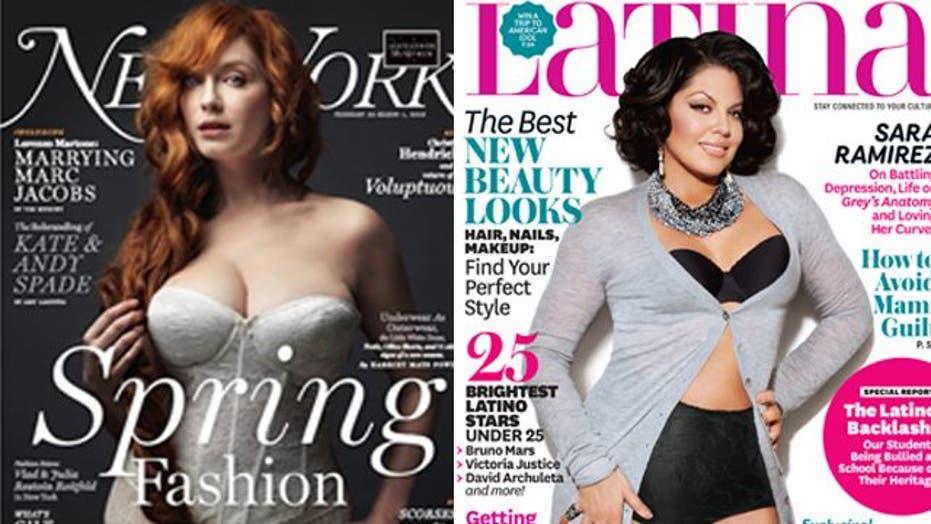Magazines show curvy girls some love