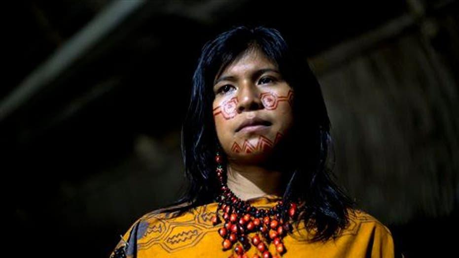 Indigenous beauty contest in Peruvian rainforest