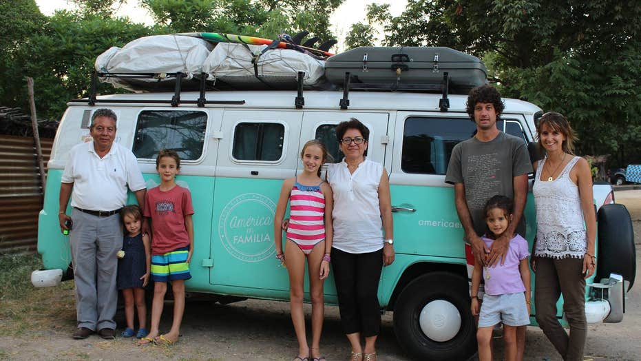 Family sets on a 6-month pilgrimage across the continent to see the pope
