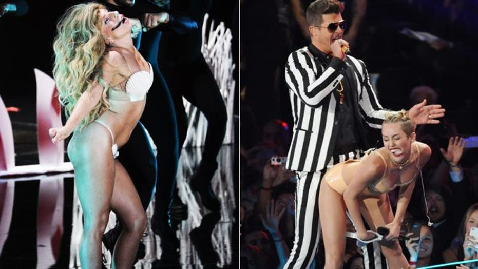Miley Cyrus and Lady Gaga's raunchiest VMA moments