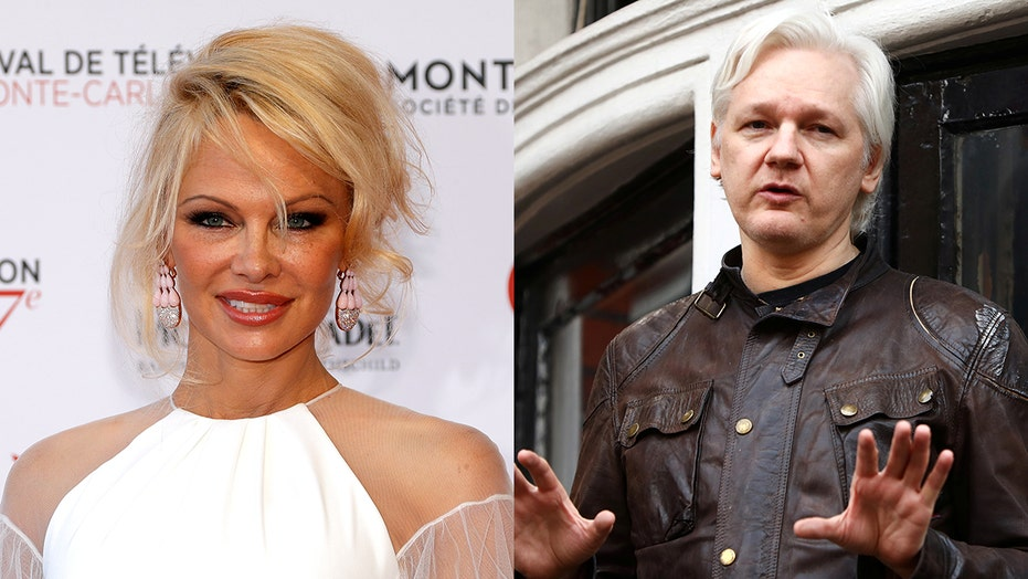 Bikini-clad Pamela Anderson pleas for Trump to pardon Julian Assange