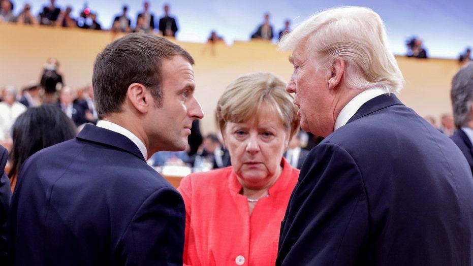 Trump to meet Merkel, Macron at NATO summit next week, White House ...