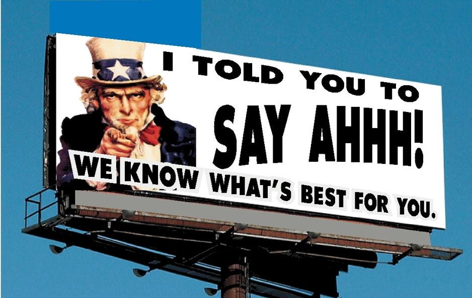Photo Op-inion: Put the Health Care Debate On a Billboard