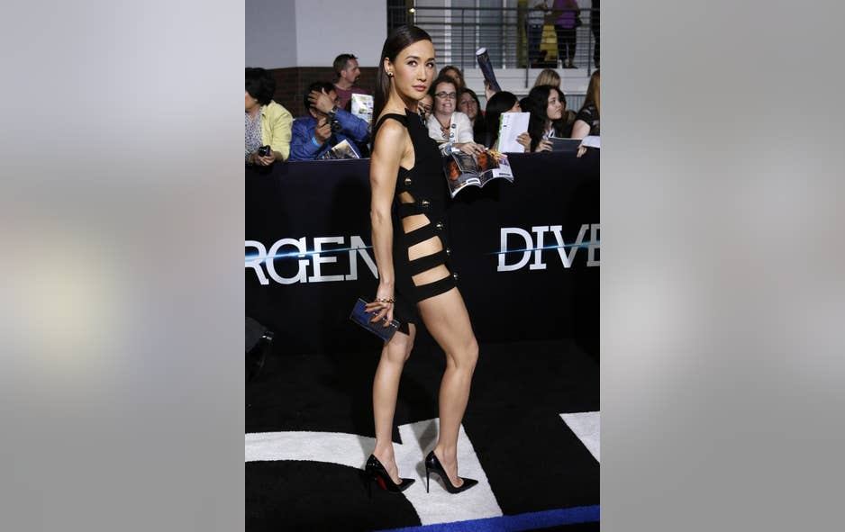 Divergent' Actress Maggie Q Is Clearly Going Commando at