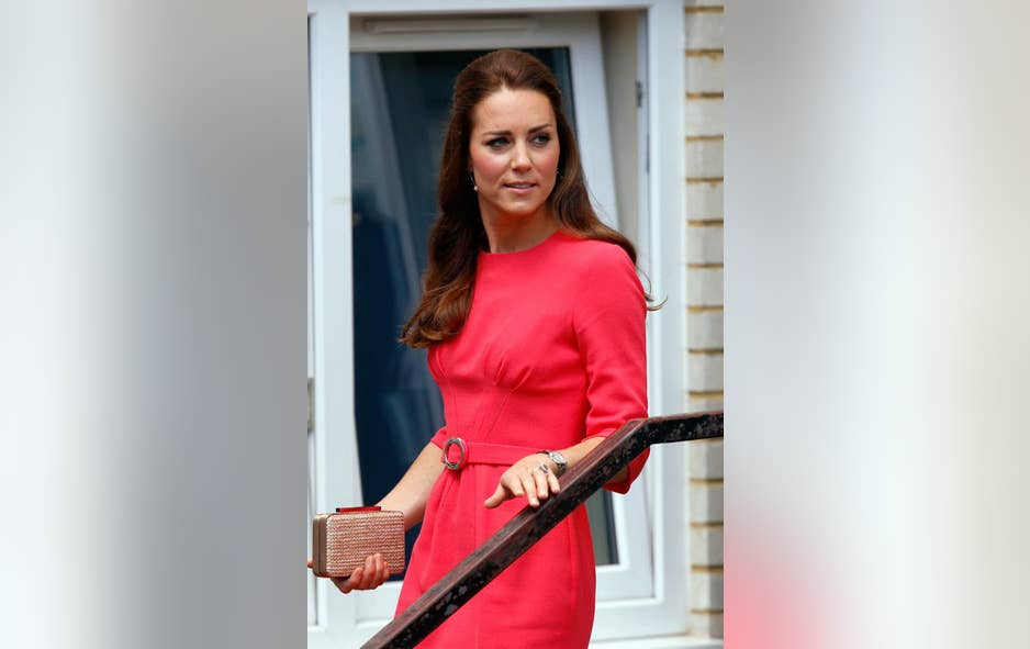 Kate Middleton Goes Hot Pink To Flaunt Slim Physique