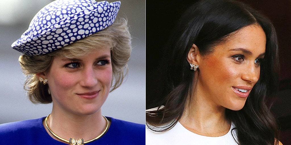meghan markle wears princess diana s jewelry in australia during first outing since pregnancy announcement fox news meghan markle wears princess diana s