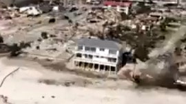 Home in Mexico Beach still stands after Hurricane Michael, amid neighborhood devastation
