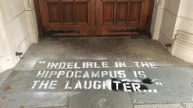 Blasey Ford's quotes from Kavanaugh testimony spray-painted across Yale campus