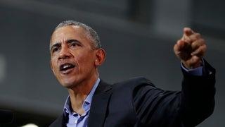 Obama wades deeply into politics, backing Newsom and touting Biden's agenda