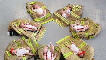 Louisiana fire department celebrates baby boom