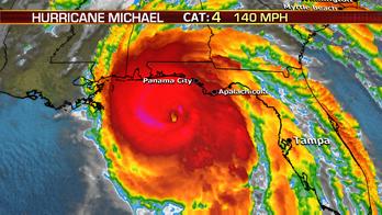 Hurricane Michael making landfall as Category 4 Hurricane to Florida's panhandle