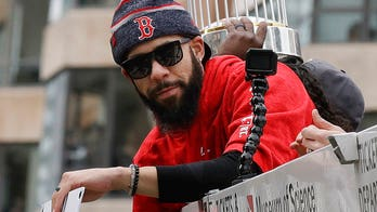 World Series trophy damaged at Boston parade by beer can