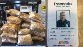 Mexican policeman held after meth found in car