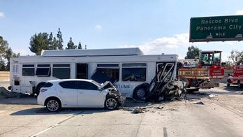 California bus crash leaves approximately 40 people hurt