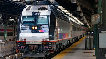 New Jersey train passenger filmed sanding his foot with power tool