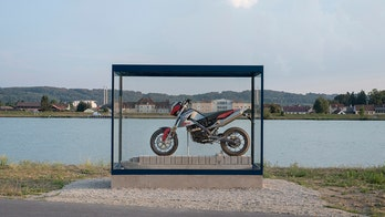 'New' BMW motorcycle salvaged from sunken ship now an art exhibit
