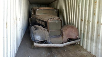 Time capsule 1934 Buick found after sitting in shipping container for 40 years