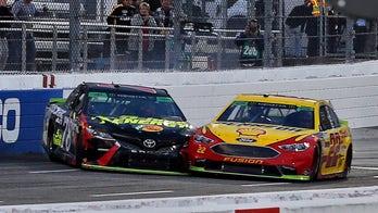 Joe Logano shoves past Martin Truex Jr. to earn spot in NASCAR's final four