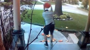 Video captures Kansas man smashing pumpkins in broad daylight, homeowner says