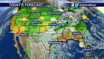 Heavy rain floods Texas, scattered rain throughout Northeast and fire danger in California