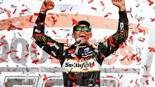 Aric Almirola takes Talladega to move on to NASCAR playoffs second round