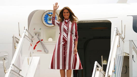 US first lady arrives in Ghana for solo Africa trip