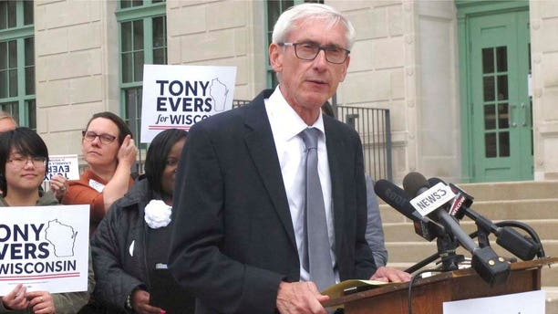 In this Sept. 28, 2018 photo, Wisconsin governor-elect Tony Evers speaks in Madison, Wis.