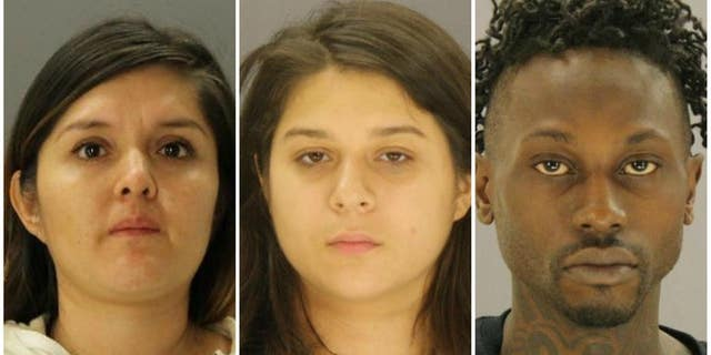 From left: Brenda Delgado is accused of recruiting Crystal Cortes and Kristopher Love to help her kill Kendra Hatcher, who was dating Delgado's ex-boyfriend.