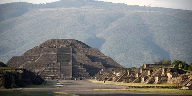 The chamber and tunnel were discovered beneath the Pyramid of the Moon.