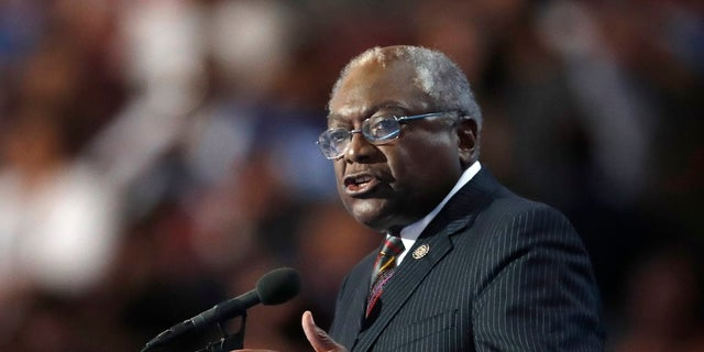FILE - Rep. James Clyburn, D-SC, introduced the resolution of disapproval against King that passed Tuesday.
