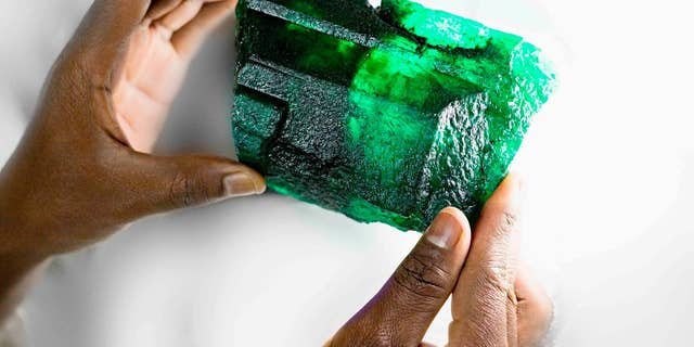 A massive emerald crystal was unearthed in the world's largest emerald mine in Zambia in early October.