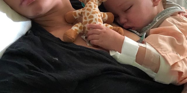 Vanessa Lachey's youngest child, Phoenix, was hospitalized for six days after he developed RSV.