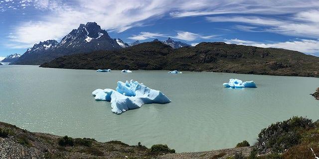 Melting ice in Patagonia.