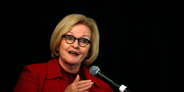 Sen. Claire McCaskill of Missouri, seen here in September, voiced her complaints on the Senate floor. (AP Photo/Jeff Roberson, File)