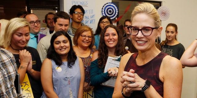 Democratic Rep. Kyrsten Sinema is running against Republican Rep. Martha McSally for the open Arizona Senate seat Jeff Flake, R-Ariz., is vacating.