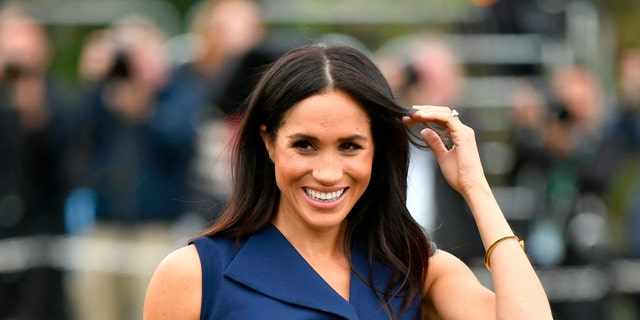 Meghan, Duchess of Sussex smiles during an event at Government House in Melbourne, Australia, Thursday, Oct. 18, 2018. Prince Harry and his wife Meghan are on day two of their 16-day tour of Australia and the South Pacific. (Dominic Lipinski/Pool via AP)