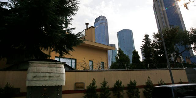 FILE: A view of Saudi Arabia's consulate in Istanbul.