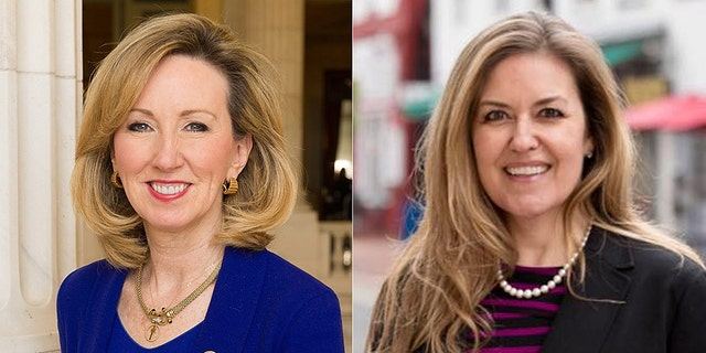 The race between Rep. Barbara Comstock (left) and Jennifer Wexton (right) is ranked as leaning Democrat.