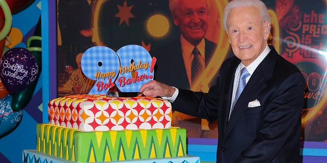 "Bob Barker attends the set of ""The Price Is Right"" to celebrate his 90th Birthday at CBS Television City on November 5, 2013 in Los Angeles, California."