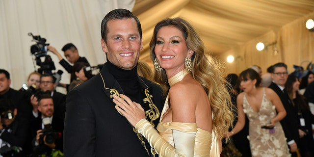 Tom Brady and Gisele Bündchen arrive for the 2018 Met Gala on May 7, 2018, at the Metropolitan Museum of Art in New York.