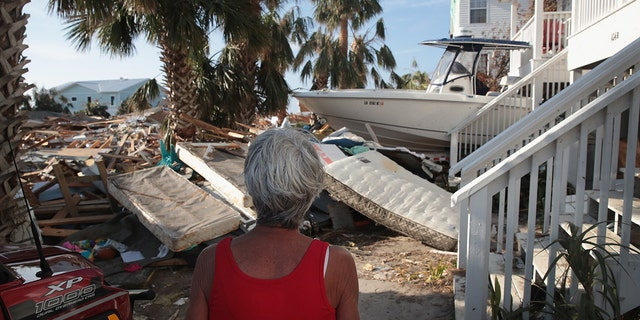 Luke Bryan's mother oversees the damage to her home after Hurricane Michael.