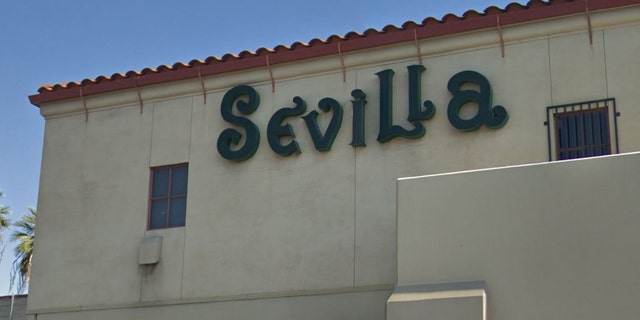 Outside Sevilla Nightclub in Riverside, Calif.