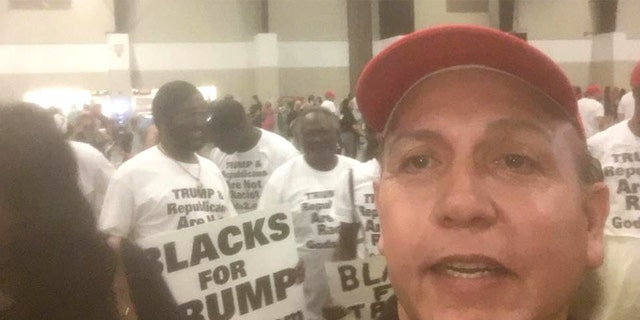 Sayoc's Facebook page is full of pictures and videos of him attending MAGA rallies