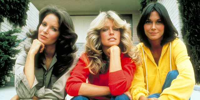 "(From left) ""Charlie's Angels"" stars Jaclyn Smith, Farrah Fawcett and Kate Jackson are pictured here in 1976."