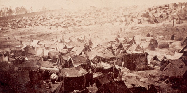 File photo - Originally known as Camp Sumter, Andersonville was a Confederate prison camp that became notorious for maltreatment of prisoners. (Photo by © CORBIS/Corbis via Getty Images)