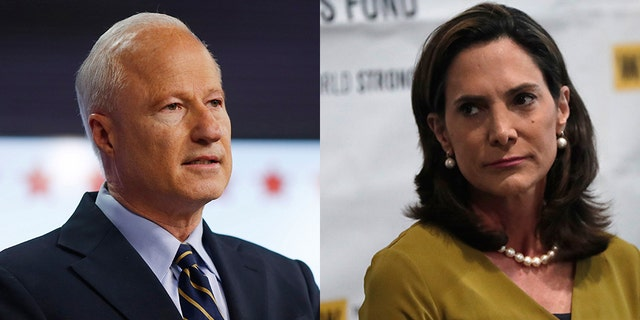 The National Republican Congressional Committee decided on Friday to stop spending money in support of Rep. Mike Coffman, R-Colo (left); Instead, the NRCC will pump $1.5 million into fresh advertisements in the Miami market to boost the surging Republican candidate Maria Elvira Salazar (right)<br>
