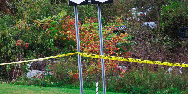 "A limousine, left, has landed in the woods following a fatal crash in Schoharie, N.Y. Kim Lisinicchia tells CBS in an interview aired on Wednesday, Oct. 10, that her husband, Scott, had stated several times that he needed a different vehicle but then trusted the company's assurances that its ""cars were all right."""