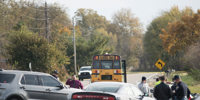 Emergency personnel responded to a scene of a collision that killed three children crossing SR 25 as they were boarding their school bus north of Rochester, Indiana.