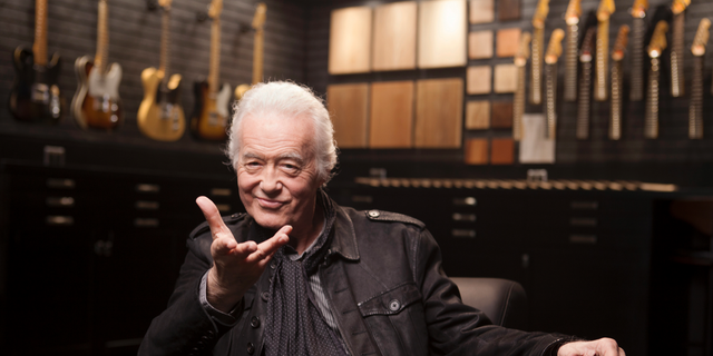This Oct. 10, 2018 photo shows Jimmy Page posing for a portrait at the Fender Factory in Corona, Calif. Page reflects on the wild year of 1968, when the Yardbirds crashed and Led Zeppelin was born. (Photo by Rebecca Cabage/Invision/AP)