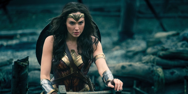 """This image released by Warner Bros. Entertainment shows Gal Gadot in a scene from """"Wonder Woman."""" Warner Bros. announced Monday that """"Wonder Woman 1984"""" will now open on June 5, 2020. The film starring Gal Gadot as the Amazonian superhero had been slated for a November 2019 release. (Clay Enos/Warner Bros. Entertainment via AP)"""